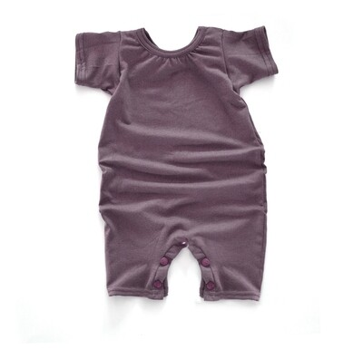 Little Sprout Short Sleeve Baby Romper - Tencel - Mauve
