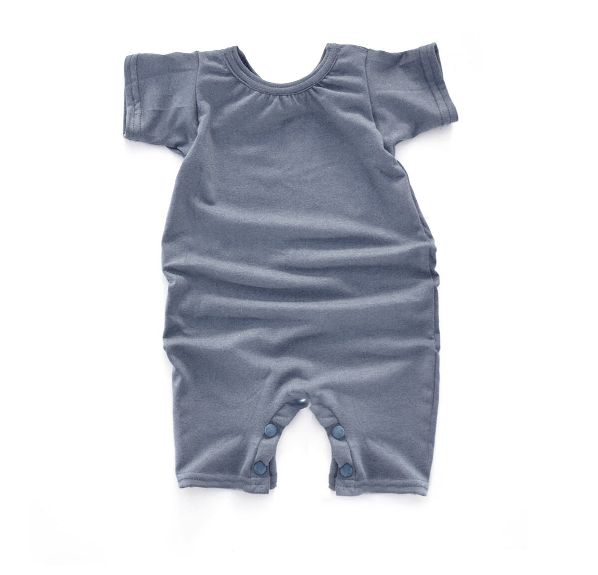 Little Sprout Short Sleeve Baby Romper - Tencel - Stone