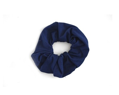 Scrunchy Hair Tie | No-Damage Hair Elastic Ponytail - Navy
