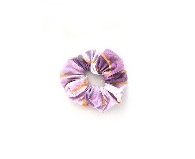 Scrunchy Hair Tie | No-Damage Hair Elastic Ponytail - Pink Geo