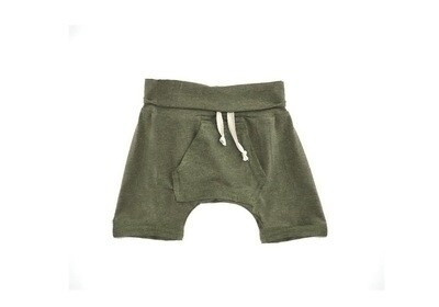 Little Sprout™ One-Size Grow with Me Lounge Short with Kangaroo Pocket | Olive