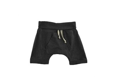 Little Sprout™ One-Size Grow with Me Lounge Short with Kangaroo Pocket | Black