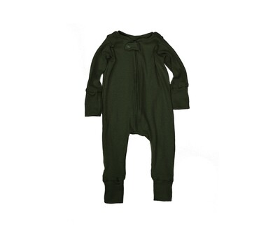 Little Sprout™ Grow with Me Footless Ribbed Knit  Sleeper | Dark Olive