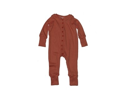 Little Sprout™ Grow with Me Footless Ribbed Knit  Sleeper | Rust