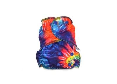 Easy Peasies One size Pocket Cloth Diaper | Summer Tie Dye