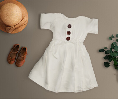 Little Sprout™ Sophie Twirl Dress | Ivory