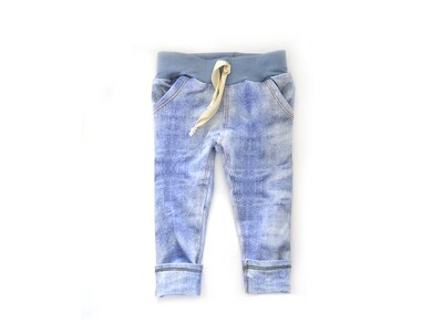 Little Sprout™ One-Size Grow with Me Jeans - Bottoms - French Terry Faux Denim