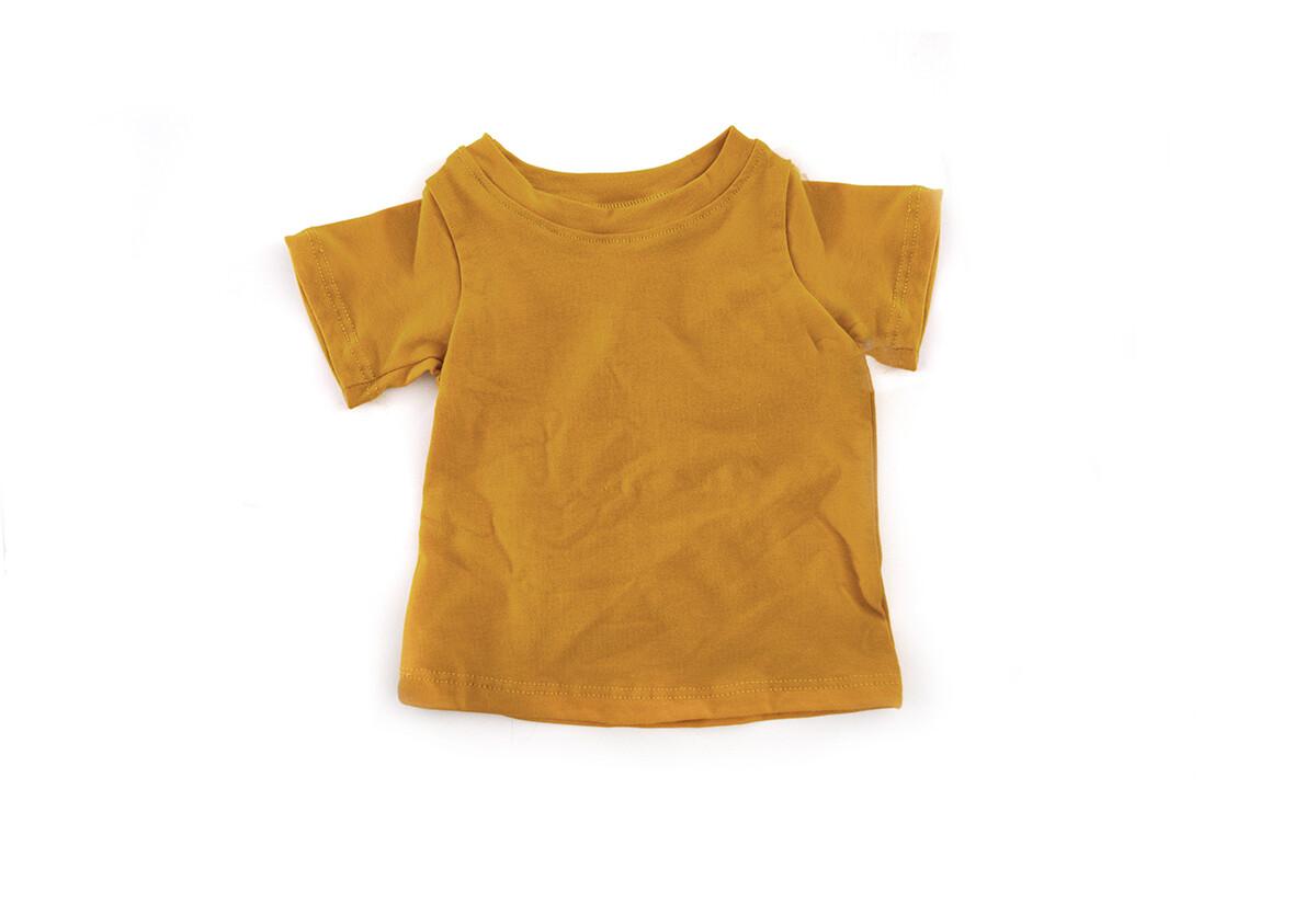 Organic Cotton T Shirt | Harvest Gold