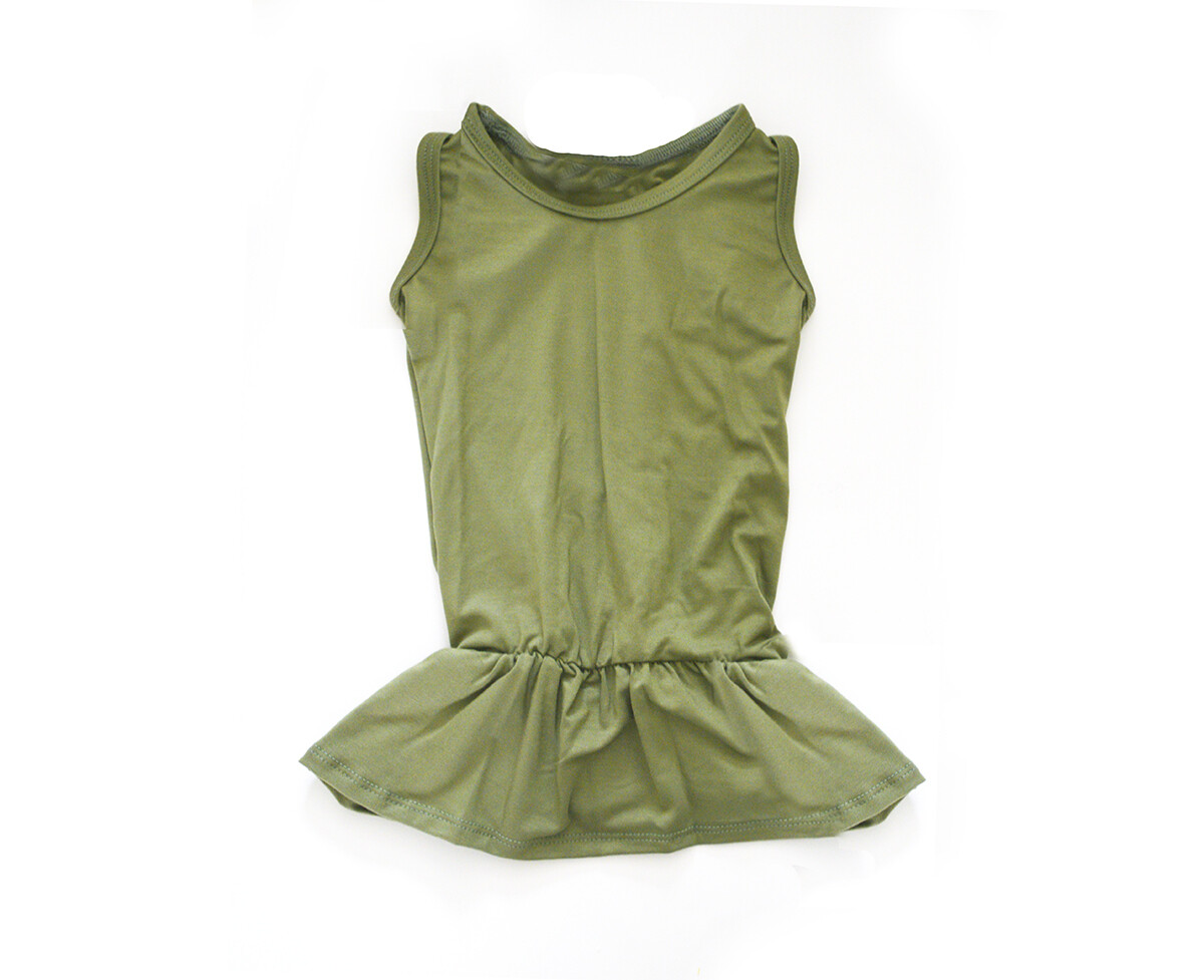 Little Sprout™Bamboo Peplum Top | Olive