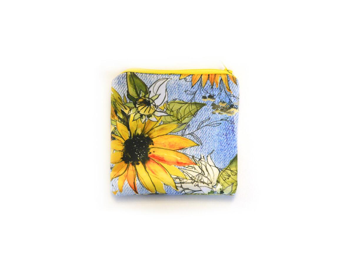 Easy Peasies® Reusable Sandwich Bag | Sunflower Denim