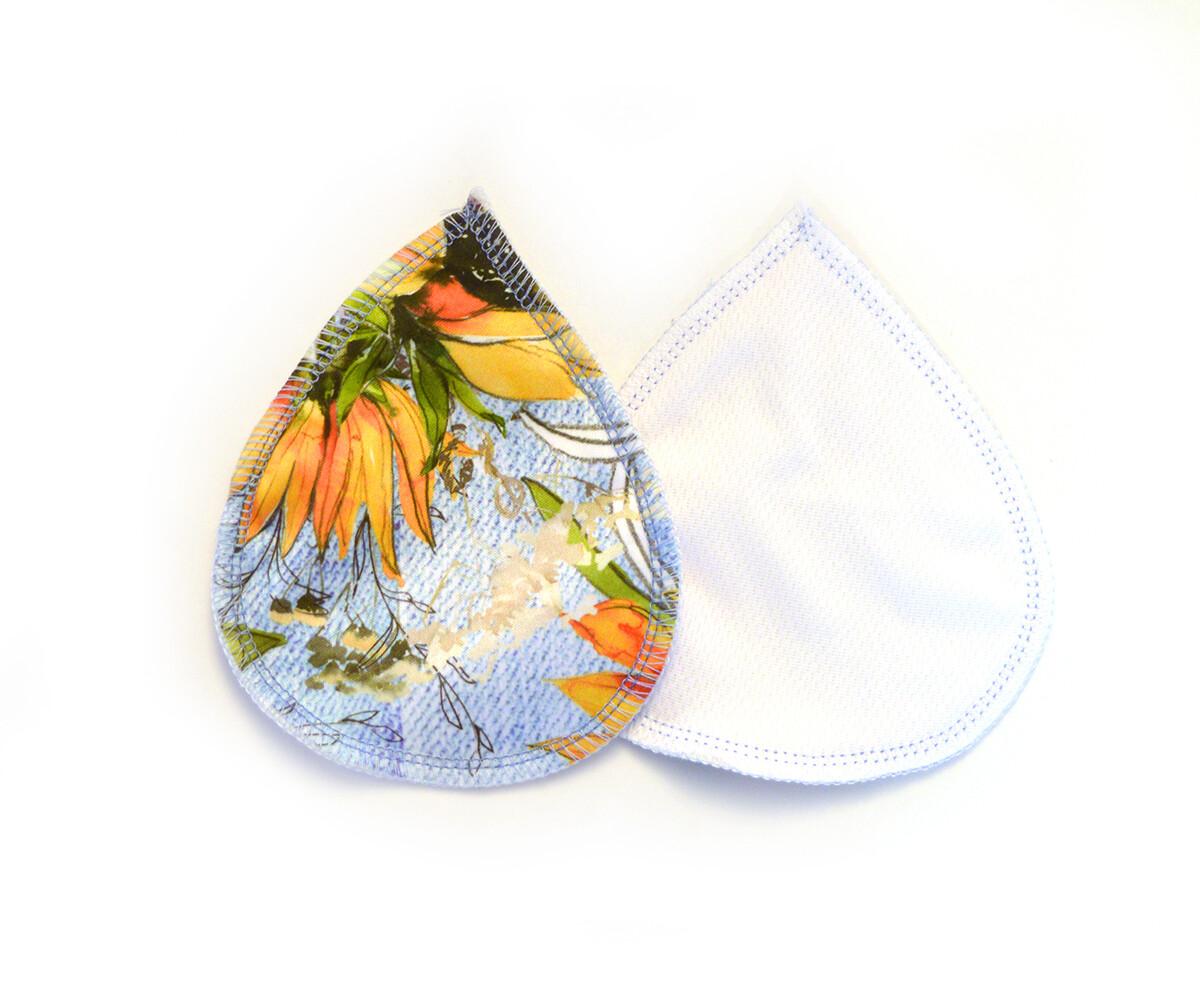 Set of Reusable Nursing Pads | Sunflower Denim