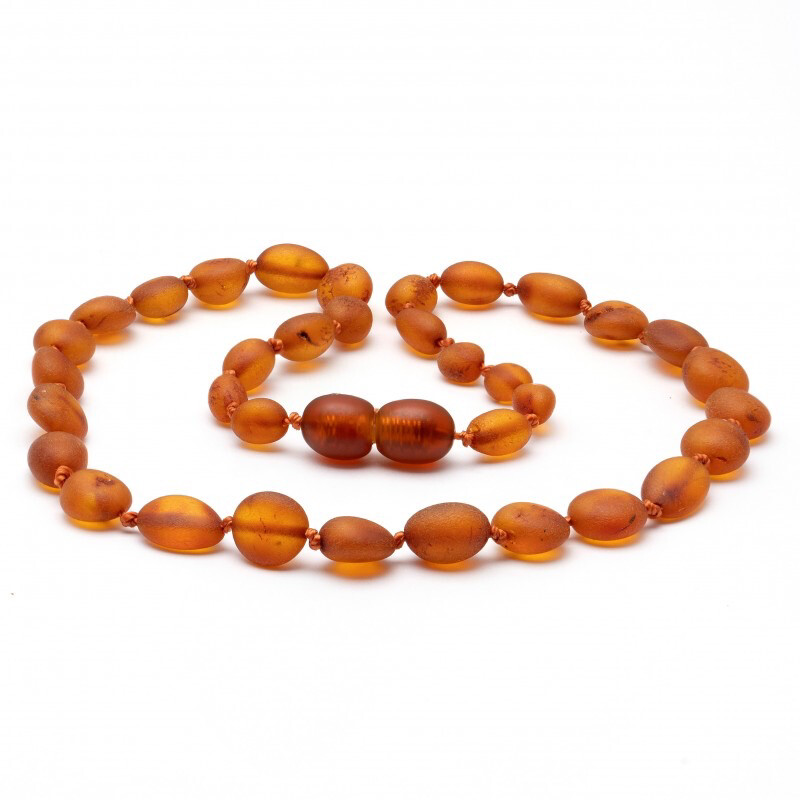 Baltic Pines™  Baby Size Healing Amber Teething Necklace - Amber   Raw