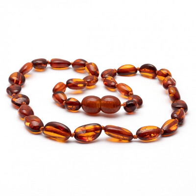 Baltic Pines™  Baby Size Healing Amber Teething Necklace - Amber