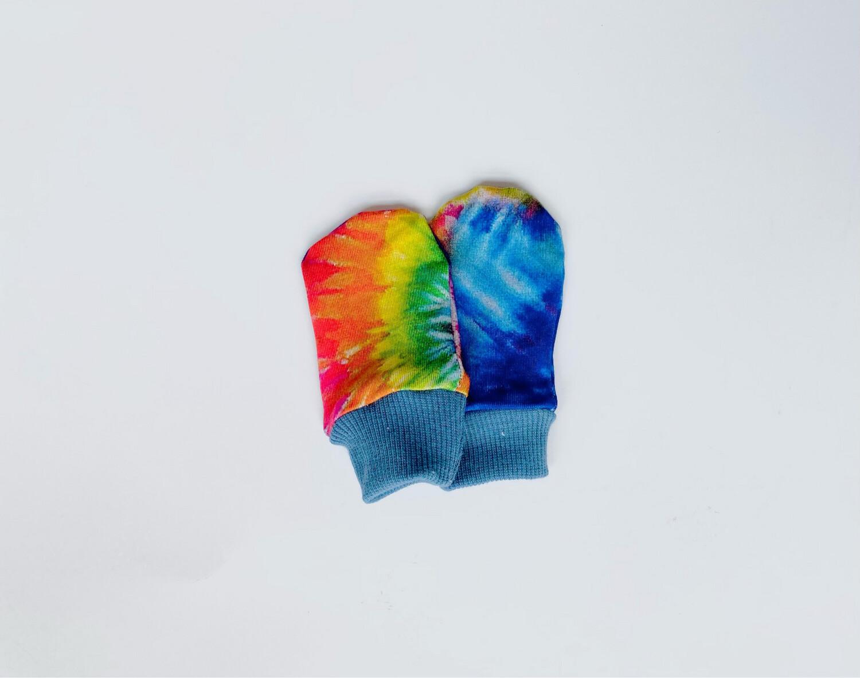 Newborn Baby Scratch Prevention Mitts - Summer Tie Dye