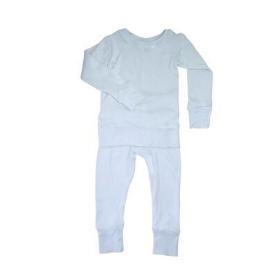 Little Sprout™ Bamboo 2-Piece Grow with Me Footless Ribbed Knit Pyjamas   Stone