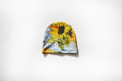 Little Sprout™ Beanie Hat | Sunflower Denim