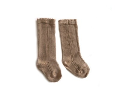 Little Sprout Knee High Socks | Baby | Toddler Stockings | Brown Sugar