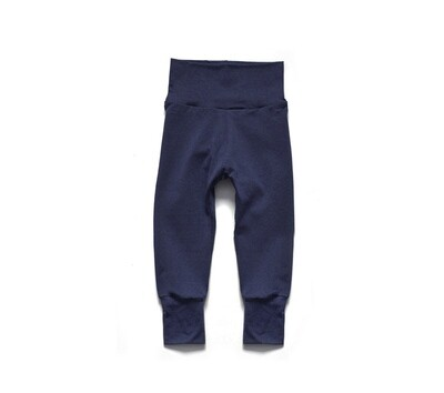 Bamboo Little Sprout Pants | Grow With Me Leggings | Navy