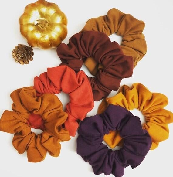 Set of 3 Mixed Scrunchies | Hair Tie | No-Damage Hair Elastic Ponytail