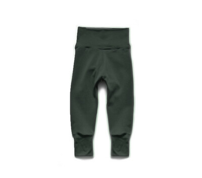 Organic Cotton Little Sprout Pants™ | Grow With Me Leggings | Dark Pine
