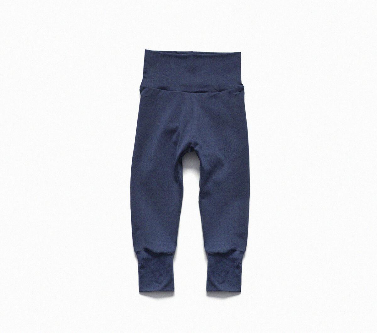 Organic Cotton Little Sprout Pants™   Grow With Me Leggings   Denim Blue