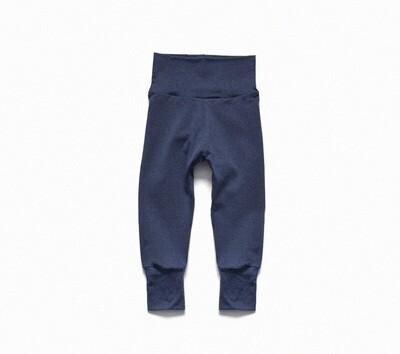 Organic Cotton Little Sprout Pants™ | Grow With Me Leggings | Denim Blue