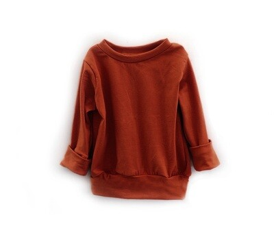 Little Sprout™ One-Size Grow with Me Long Sleeve Crew Neck Shirt | Rust