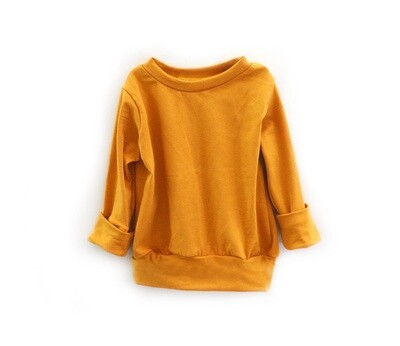 Little Sprout™ One-Size Grow with Me Long Sleeve Crew Neck Shirt | Ochre