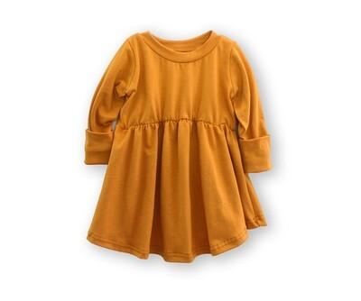 Little Sprout™ Long Sleeve Grow With Me Peplum Top   Shirt   Ochre