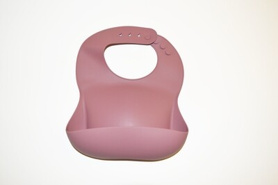 Little Sprout™ Silicon Stay-Clean Pocket Bib | Peony