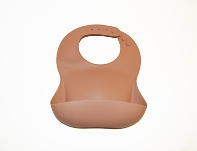 Little Sprout™ Silicon Stay-Clean Pocket Bib | Peach