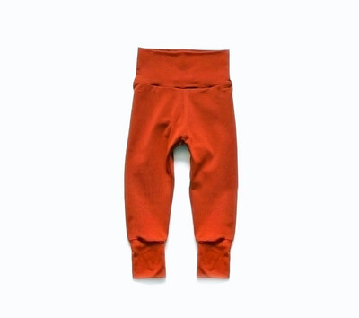 Organic Cotton Little Sprout Pants™ | Grow With Me Leggings | Rust