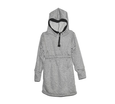 Little Sprout™ One-Size Grow with Me Hoodie Dress   Heather Grey
