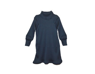 Ribbed Little Sprout™ Grow with Me Mock Turtle Neck Dress   Navy