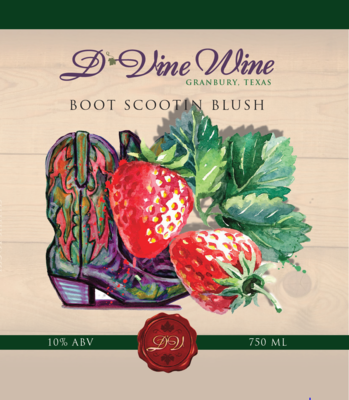 Boot Scootin' Blush – (Strawberry White Zinfandel)