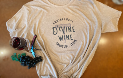 D'Vine Wine T-Shirt - Drink Local