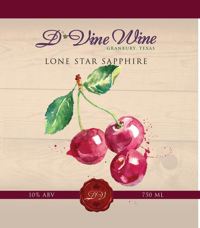 Lone Star Sapphire - (Black Cherry Pinot Noir)