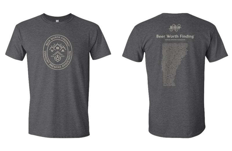 VT Brewers Beer Worth Finding T-Shirt Charcoal Gray
