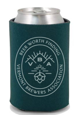 VT Brewers VBA Branded Can Holder Forest Green