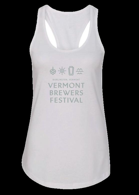 VT Brewers Festival Burlington White Tank Top