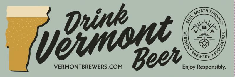 Drink Vermont Beer Bumper Sticker