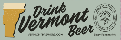 Drink Vermont Beer Bumper Sticker