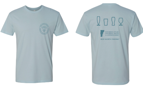 VT Brewers Beer Worth Finding T-Shirt in Light Blue