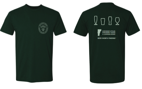 Vermont Brewers Association Beer Worth Finding T-Shirt in Forest Green