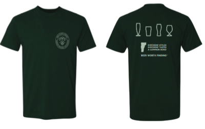 VT Brewers Beer Worth Finding T-Shirt in Forest Green