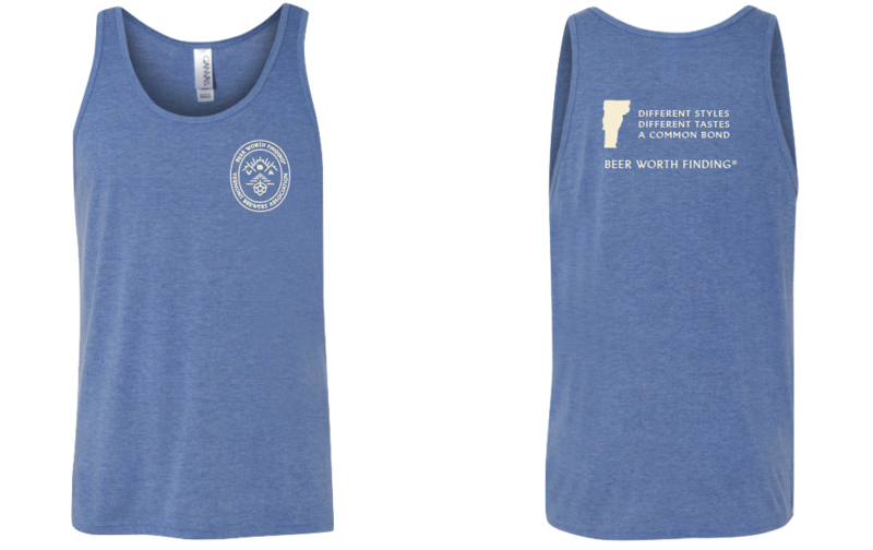 VT Brewers Beer Worth Finding Unisex Tank in Blue Triblend