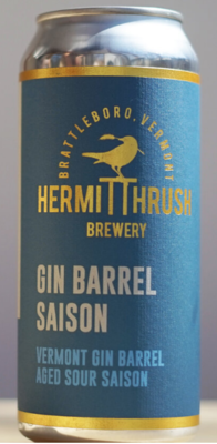 Hermit Thrush Brewery Gin Barrel Saison Single 16oz Can