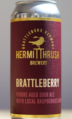 Hermit Thrush Brewery Brattlebeery Single 16 oz Can