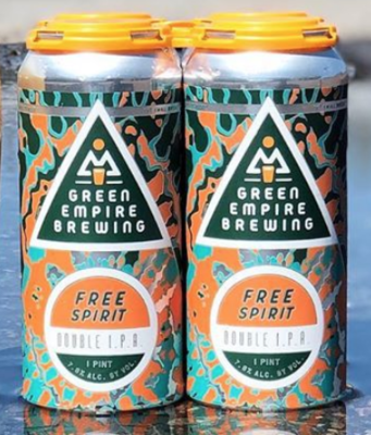 Green Empire Brewing Free Spirit DIPA 4-Pack