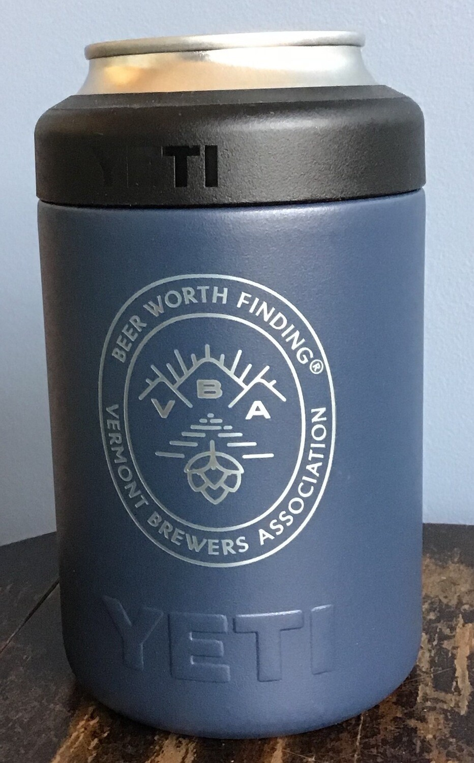 12oz YETI Rambler Colster branded with VBA logo